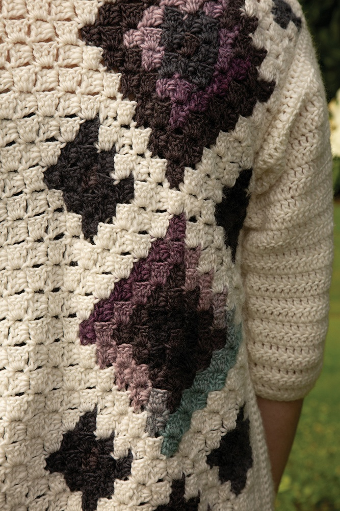 Times Square C2C Cardigan Free Crochet Pattern