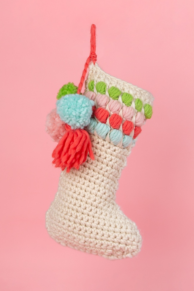 Color Pop Stocking Free pattern download