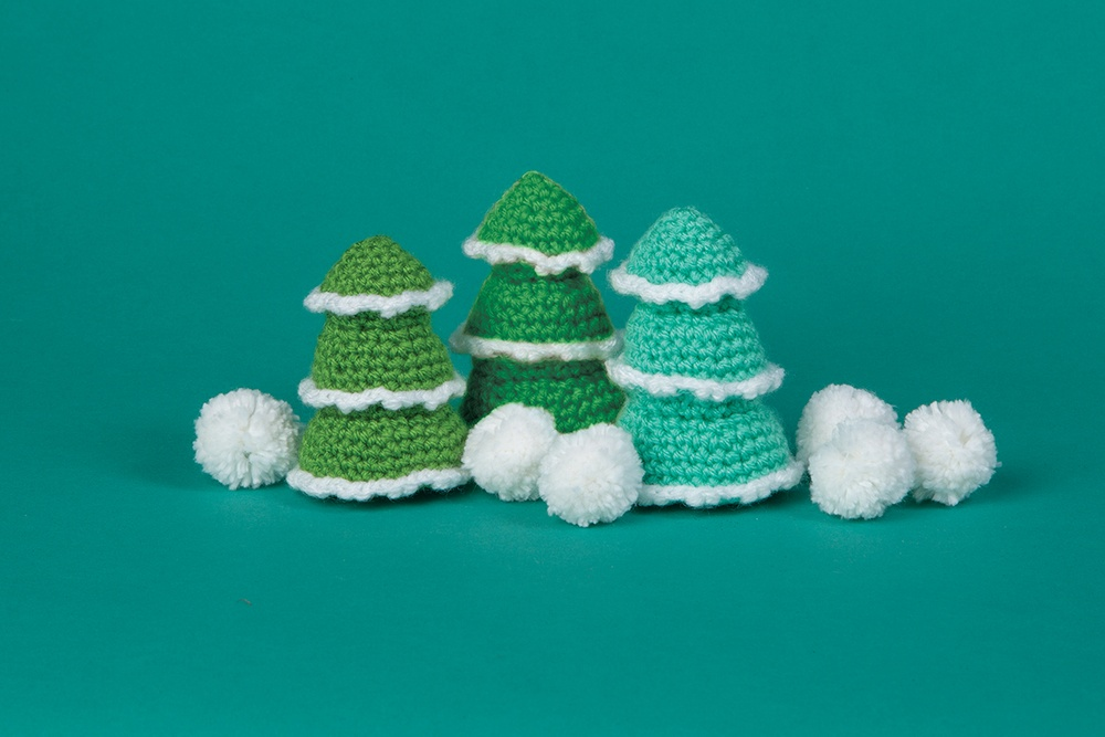 Snowcapped Tree Ornament Free Crochet Pattern