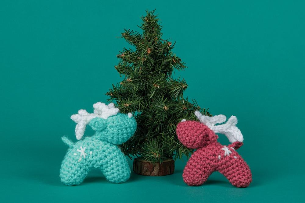 Reindeer Ornament Free Crochet Pattern