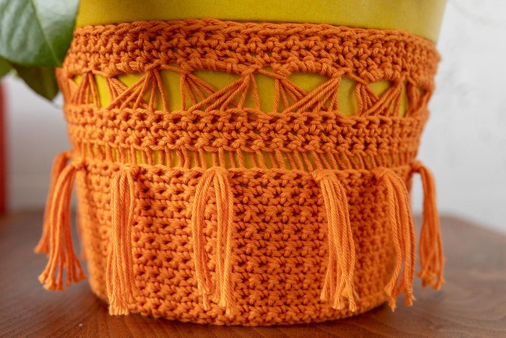 Fairy Garden Fringe Plant Cozy Free Crochet Pattern