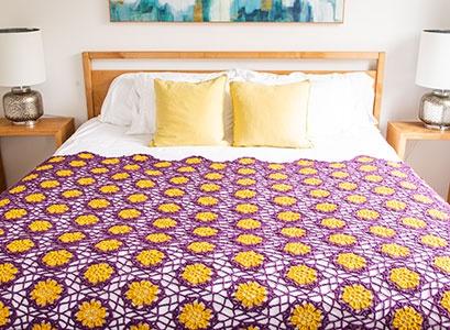 African Violet Afghan Pattern Kit