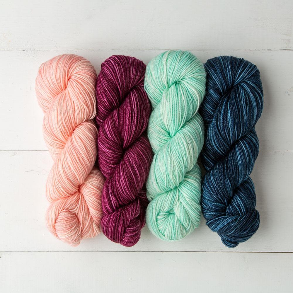 WOODSTOCK 2 100g Skeins Knit Picks HAWTHORNE FINGERING SW Merino Sock Shawl YARN