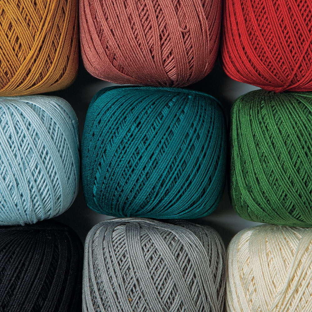 Lustrous, elegant, and versatile – Curio is sure to be your favorite new crochet thread!