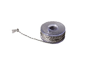 Conductive thread for knitting and crochet