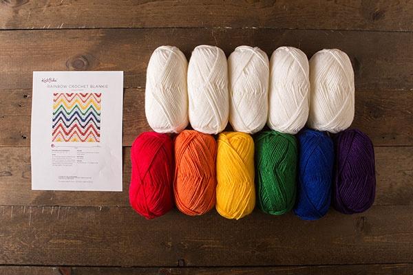 Rainbow Crochet Blanket Kit