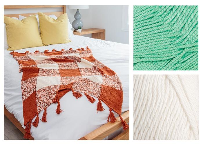 Cotton Plaid Throw Pattern Kit
