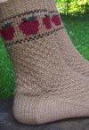 Apple Basket Socks Pattern