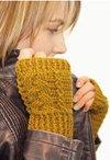Crochet Braided Fingerless Mitts Pattern
