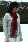 Three Feathers Scarf Pattern