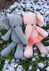 Morris & Matilda Amigurumi Crochet Elephants Pattern