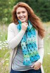 Splash Fest Broomstick Lace Crochet Scarf Pattern