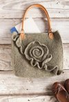Green Rose Purse