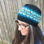 All Ages Waves of Plaid Crochet Beanie