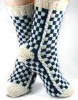 LouisVuitton-Inspired Socks Pattern