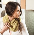 Lace & Seed Stitch Cowl Pattern