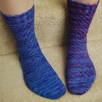 Swirl Bumps Socks Pattern