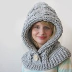 51 Degrees North - Crochet Hooded Cowl