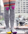 Roller Girl Striped Socks