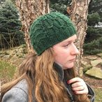 Art Deco Cabled Beanie
