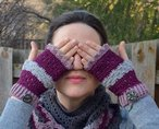 Amica Fingerless Mitts Pattern