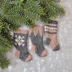Nordic Christmas Stockings Ornament Set