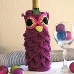 Owl Drink to That Wine Carrier Pattern