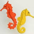 Post-Modern Post-Stitch Seahorse Pattern