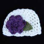 Bulky Crochet Flower Hat
