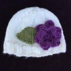 Bulky Knit Flower Hat Pattern