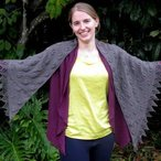 Embossed Leaves Shawl