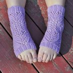 Tulip Lace Yoga Socks Pattern