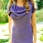 Cowl Me Maybe Textured Cowl Neck Dress Pattern