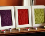 Aztec Textures Knitted Wall Art Pattern