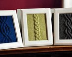Cable Panels Knitted Wall Art Pattern