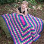 Paint the Rainbow Kids' Throw Pattern