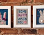 Some Bunny Loves Me Knitted Wall Art