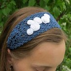 Rose Corsage Headband Pattern