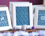 Fair Isle Flurries Knitted Wall Art