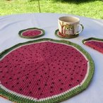 Watermelon Coasters and Dishcloth