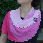 Gradient Spiral Shawl Pattern
