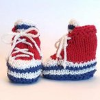 Baby High-Top Sneaker Booties Pattern