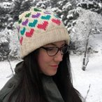 Hearts Around Beanie Pattern