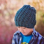 Rippled Slouch Beanie Pattern