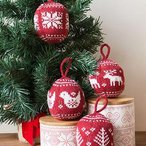 Festive Fair Isle Ornaments