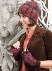Architecture Hat & Mitts-Columns Pattern