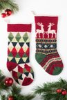 Triangle and Reindeer Stocking