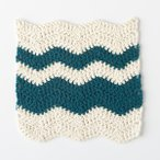 Wavy Chevron Crochet Dishcloth