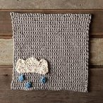 A Chance of Rain Dishcloth Crochet Pattern (free download)