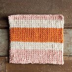Sherbet Tunisian Crochet Dishcloth Pattern (free download)